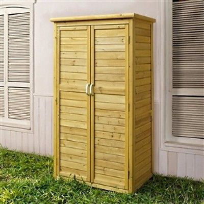 Fir Wood Outdoor Garden Storage Shed - 5ft x 3ft - YourGardenStop