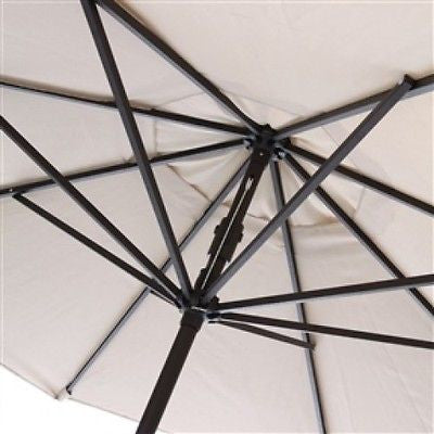 9-Ft Patio Umbrella with Crank and Tilt in Navy and White - YourGardenStop