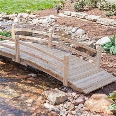 10-Ft Garden Bridge in Unfinished Fir Wood - YourGardenStop