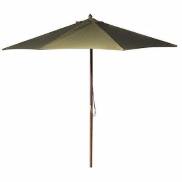 9' Outdoor Umbrella with Wood Frame and Beige Canopy - YourGardenStop