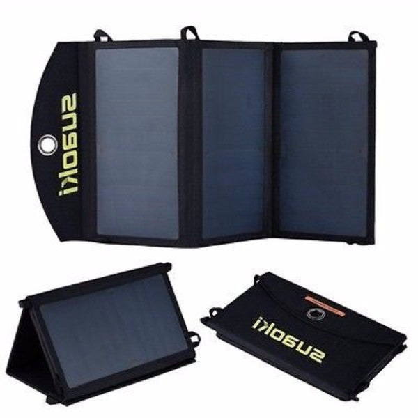 20-Watt Solar Folding Portable  Battery Charger w/ USB - YourGardenStop