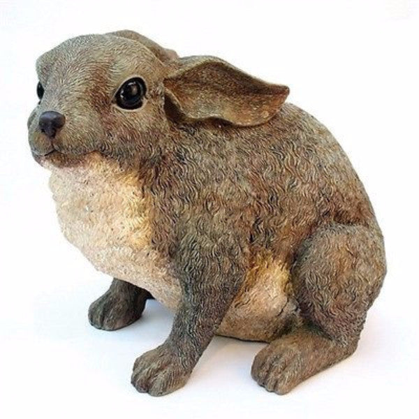 Bunny Rabbit Outdoor Garden Statue in Brown Resin - YourGardenStop