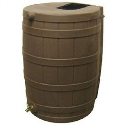 50 Gallon Rain Wizard Rain Barrel in Oak - YourGardenStop
