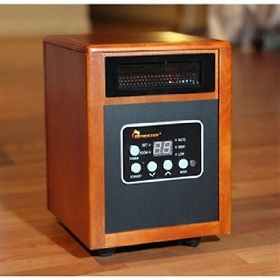 1500W Portable Quartz Infrared Space Heater with Remote - YourGardenStop