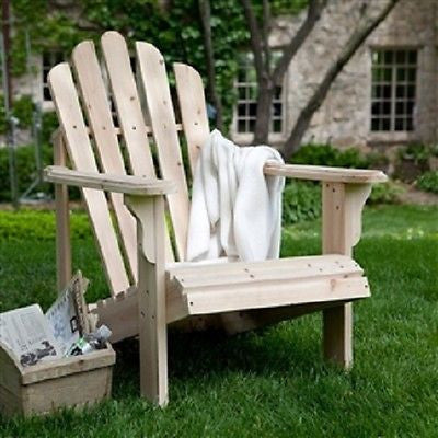 Unfinished Asian Fir Wood Adirondack Chair - YourGardenStop
