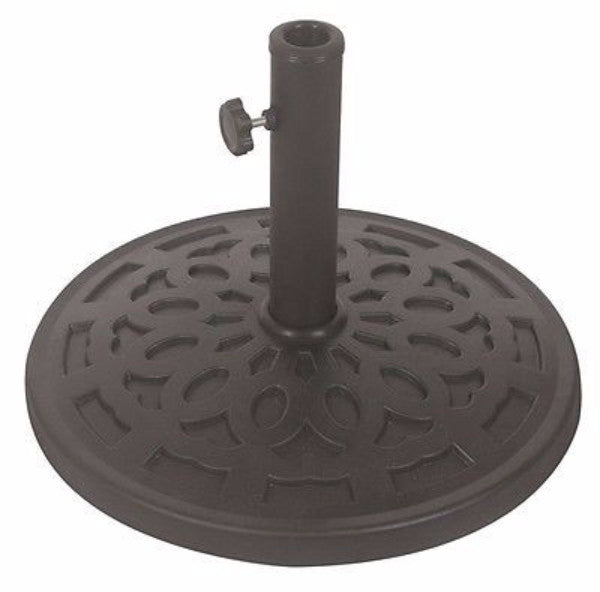 30 lb Free Standing Outdoor Umbrella Base in Grey Black - YourGardenStop
