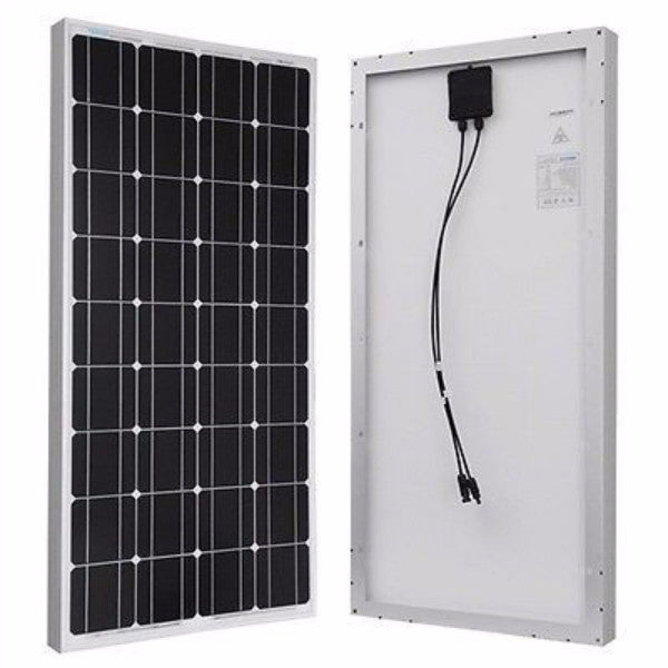 100-Watt Solar Panel 12-Volt Battery Charging RV Camping - YourGardenStop
