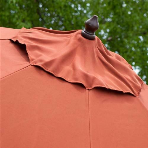 9-Ft Push Button Tilt Patio Umbrella - YourGardenStop