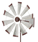 "19"" Galvanized Wind Spinner - Windmill - YourGardenStop"