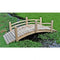 4 Ft Garden Bridge with Rails in Cedar Wood - YourGardenStop