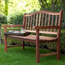 4-Ft Wood Garden Bench with Curved Arched Back - YourGardenStop