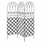 6-Ft 3-Panel Black Metal Lattice/Garden Trellis - YourGardenStop