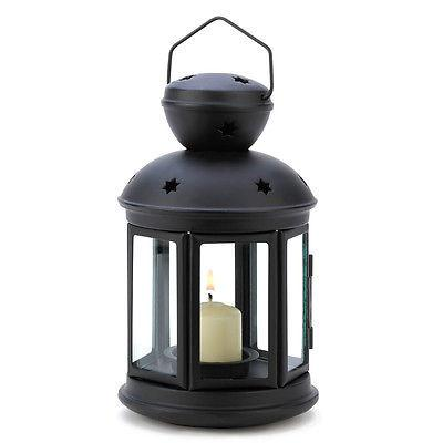 Black Colonial Candle Lamp - YourGardenStop