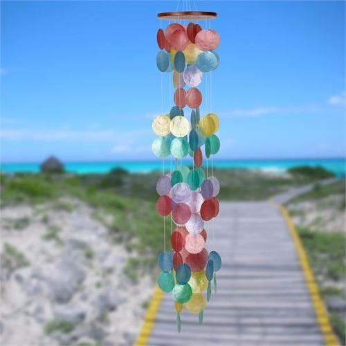 Capiz Waterfall Windchimes (Various Colors to choose from) - YourGardenStop