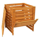 Solid Wood 90 Gallon Compost Bin with Removable Top and Hinged Side Panel - YourGardenStop