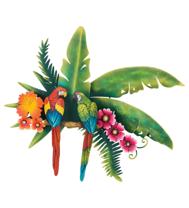 Tropical Parrots Wall Décor by Regal Arts - YourGardenStop