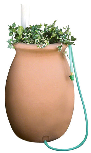 50-Gallon Terra Cotta Rain Water Storage System - YourGardenStop