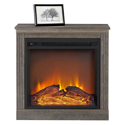 Ventless Electric Fireplace in Espresso Wood Finish - YourGardenStop
