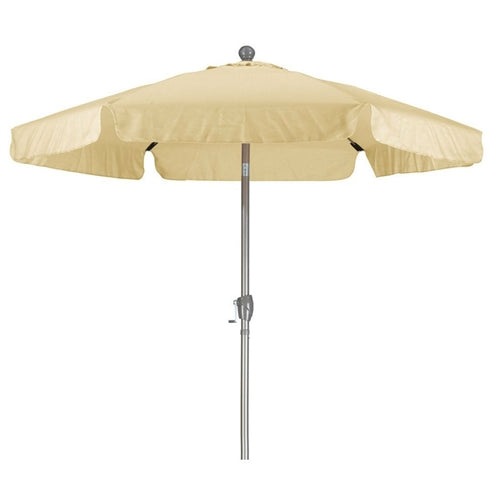 Antique Beige 7.5 Ft Patio Umbrella with Push Button Tilt & Metal Pole - YourGardenStop