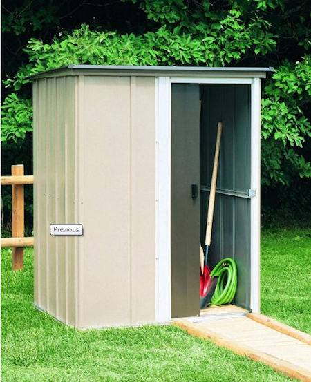 Outdoor Lawn Garden Tool Storage Shed - 4-Ft x 5-Ft - YourGardenStop