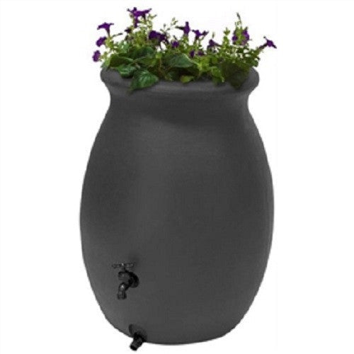 50 Gallon Rain Barrel Planter with Spigot - YourGardenStop