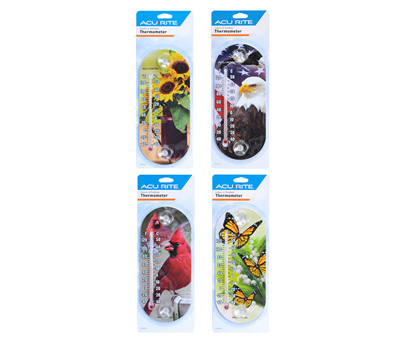 8 inch Acurite Suction Cup Bird Themed Thermometer - YourGardenStop