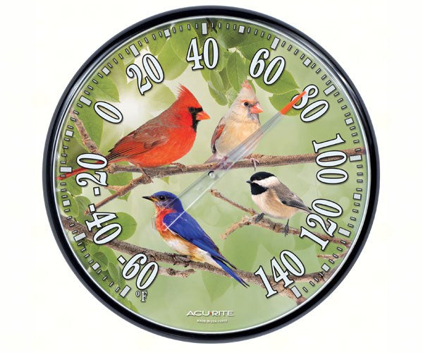 Songbirds Thermometer by Accurite - YourGardenStop