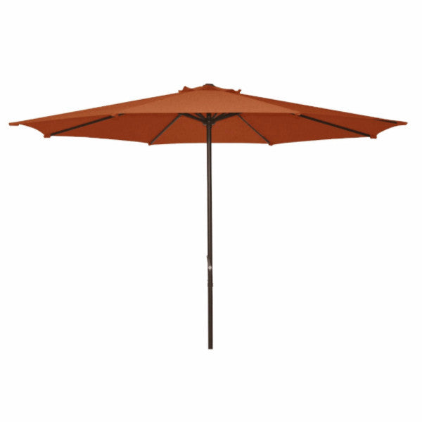 9 Foot Patio Umbrella with Terra Cotta Polyester Fabric Shade - YourGardenStop