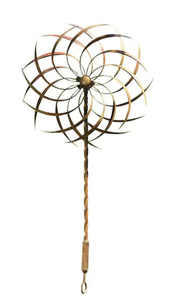 Handcrafted Copper Plated Ornamental Outdoor Garden Wind Spinner Pin-wheel - YourGardenStop