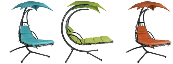 Single Person Sturdy Modern Chaise Lounger Hammock Chair Porch Swing