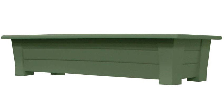 Sage Green Rectangular Garden Planter- Holds up to 150lbs