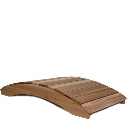 6-Ft Garden Bridge in Western Red Cedar - YourGardenStop