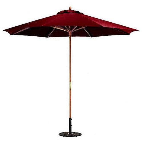 9 FT Market Patio Umbrella with Burgundy Canopy - YourGardenStop