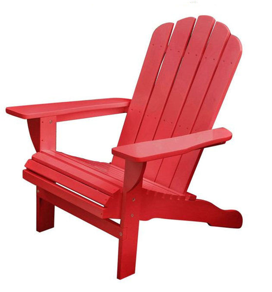 Weather Resistant Eucalyptus Wood Adirondack Chair (Red)
