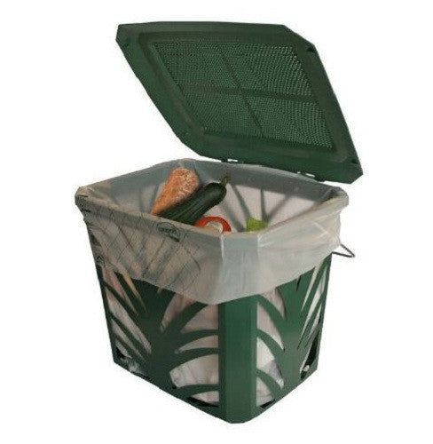 Green Kitchen Composting Bucket with Side Air-Flow Vents - YourGardenStop