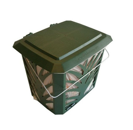 Green Kitchen Composting Bucket with Side Air-Flow Vents