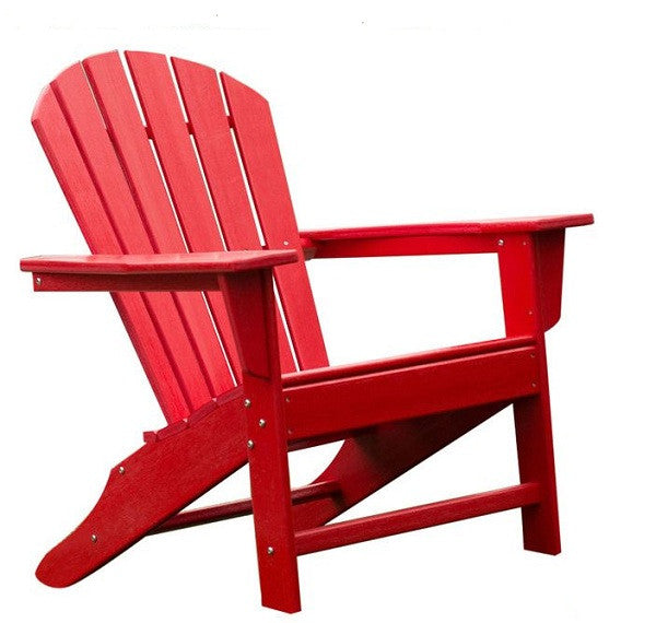 Outdoor Patio Seating Garden Adirondack Chair in Red Heavy Duty Resin - YourGardenStop