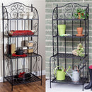 Outdoor Indoor Durable Metal Bakers Rack Potting Bench Garden Shelving Unit - YourGardenStop