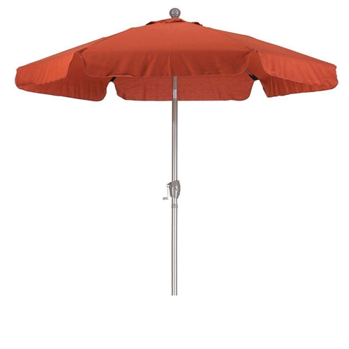 Brick Red 7.5-Ft Patio Umbrella w/3-Way Push Button Tilt & Metal Pole - YourGardenStop