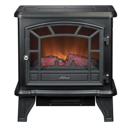 Traditional Black Metal Electric Fireplace Space Heater - YourGardenStop