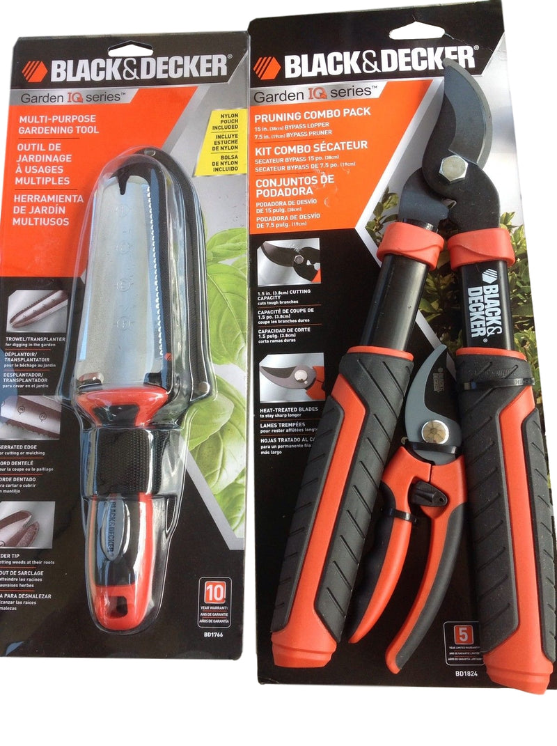 Black & Decker Garden IQ Series (Lopper, Pruner, Multi-Purpose Tool) - YourGardenStop