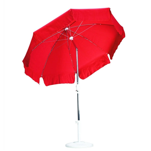 Red 7.5-Ft Outdoor Patio Umbrella w/Push Button Tilt & Aluminum Pole - YourGardenStop