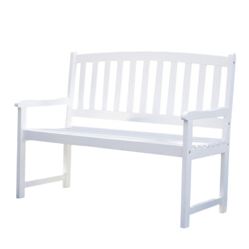 4-Ft Garden Bench with Curved Back and Armrests - YourGardenStop