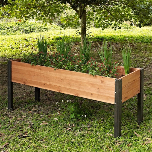 Elevated Outdoor Raised Garden Bed Planter Box 70 x 24 x 29 inch High - YourGardenStop