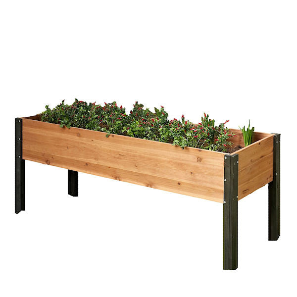 Elevated Outdoor Raised Garden Bed Planter Box - 70 x 24 x 29 in. High