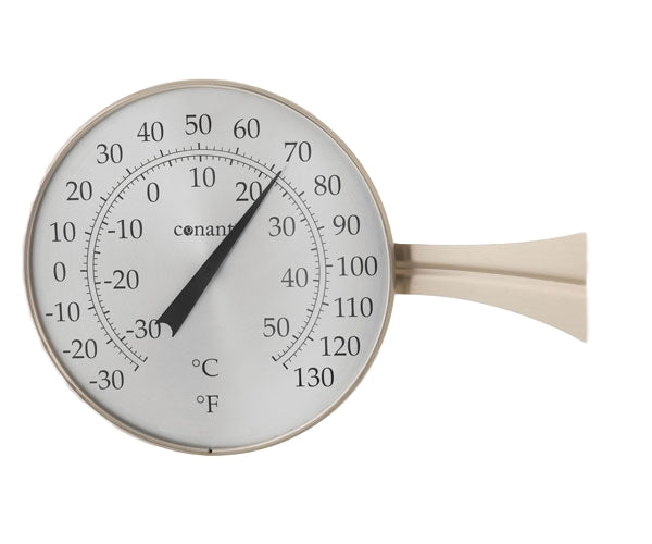 "Thermometer Large Dial 8.25"" (Bronze Patina or Satin Nickel) - YourGardenStop"