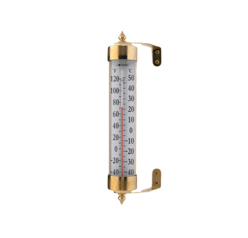 "Vermont Grande View 12.25"" Thermometer Living Finish Brass - YourGardenStop"