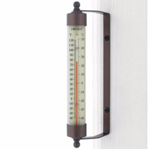"Indoor Outdoor 7.5"" Thermometer Bronze Patina Finish - YourGardenStop"