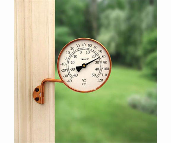 Vermont Dial Thermometer Living Finish Copper - YourGardenStop