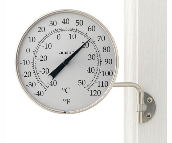 "Indoor Outdoor 4"" Dial Thermometer in Bronze Patina or Satin Nickel Finish - YourGardenStop"